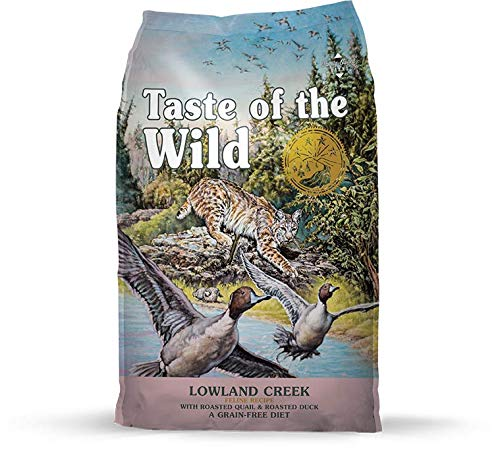 Taste of the Wild Grain Free High Protein Real Meat Recipe Lowland Creek Premium Dry Cat Food 5lb (Taste Of The Wild Dry Cat Food)