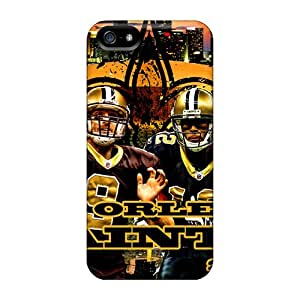 Ultra Slim Fit Hard StaceyBudden Cases Covers Specially Made For Iphone 5/5s- New Orleans Saints