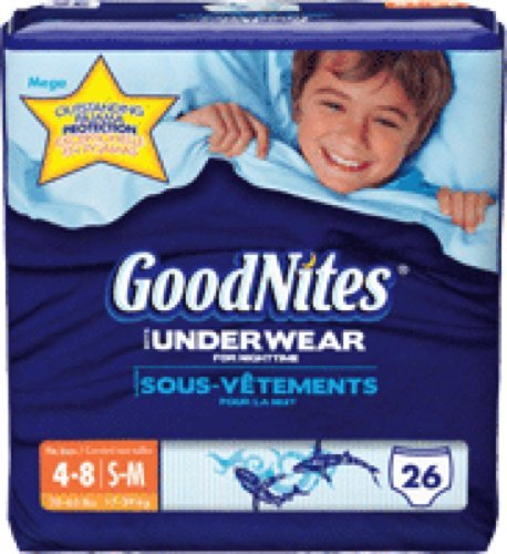 Goodnites Youth Pants for Boys Small/Medium, Mega Pack (Box of 26 Each) by Kimberly-Clark