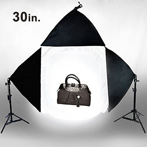 Photo Studio 30'' Photography Light Tent Backdrop 3x Softboxes Kit Cube Lighting by Gogad