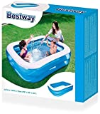 H2OGO! Blue Rectangular Inflatable Family Pool