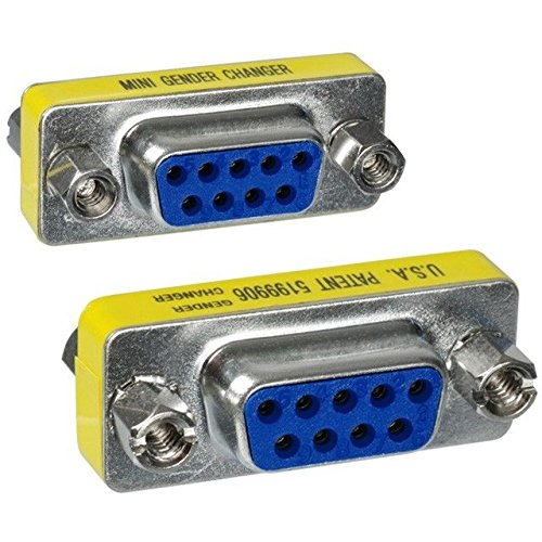 Changer Gender Monitor - 2x Female Vga Monitor Port To Mini Gender Changers Db9 Serial Rs-232 Nine 9-Pin