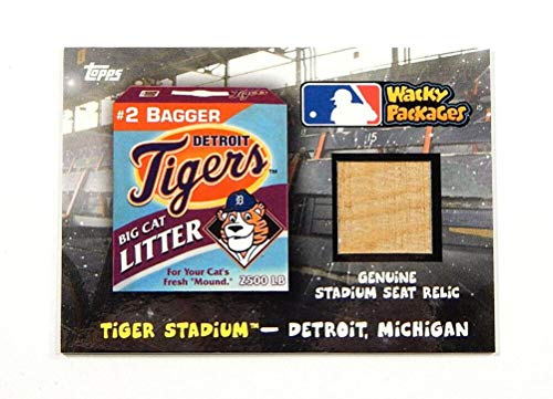 2016 Topps Wacky Packages Tiger Stadium Seat Relic Detroit Tigers #SSR-DT - Baseball Cards from Sports Memorabilia