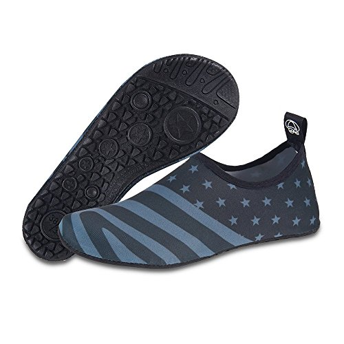 Womens and Mens Kids Water Shoes Barefoot Quick-Dry Aqua Socks for Beach Swim Surf Yoga Exercise American Flag