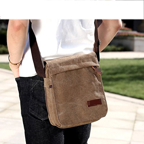 Simple Satchel Leisure Business Canvas Temperament Shoulder Package Multifunctional Single Bag Ultra Light Portable Black Male xqFYvnwpg1