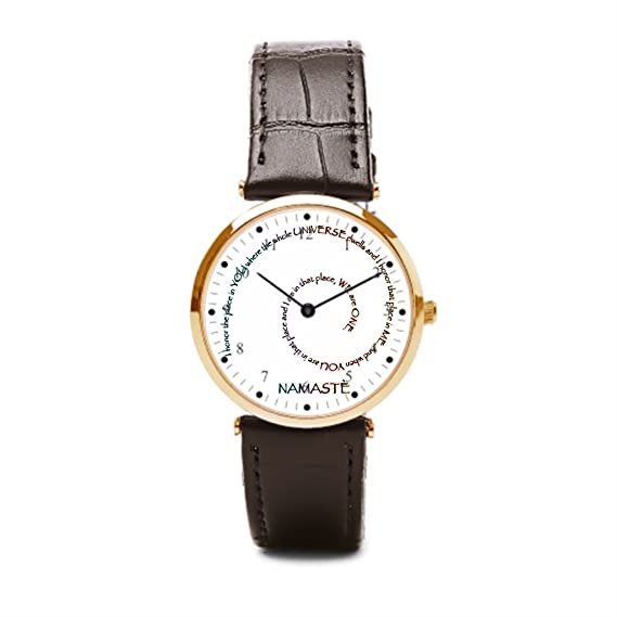 Un ejército Namaste y su significado (de piel reloj barato Relojes Honor India para hombre