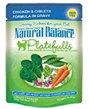 Natural Balance 3-Ounce Platefulls Chicken and Giblets Formula in Gravy Entree for Cats, Pack of 24, My Pet Supplies
