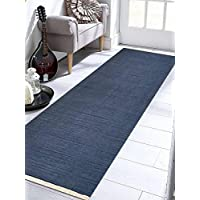 Rugsotic Carpets Hand Weave Kelim KELIM WOOL 3 x 13 Contemporary Area Rug Blue D00111