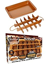BROOKLYN BROWNIE Copper Non-stick Baking Pan with Built-In Slicer / Cutter (Large)