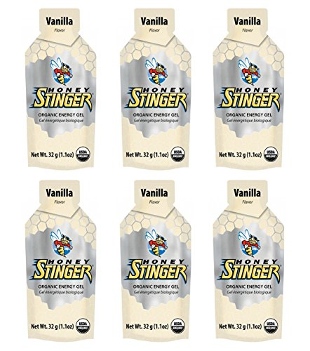 Honey Stinger Organic Energy Gel - Vanilla (6 x 1.1oz Packs)