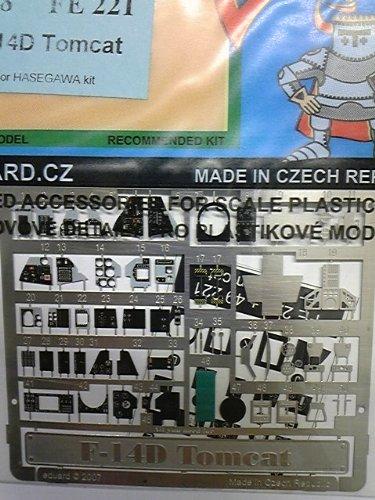 エデュアルド <FE221> 1/48スケール F-14D トムキャット 塗装済み計器盤 エッチングパーツ ハセガワ用 B0060VZ8LY