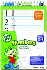 The LeapFrog Numbers mini dry erase and spiral--bound activity workbook reinforces key skills children need to succeed in kindergarten and first grade. Each book includes 8 sturdy, dry erase board pages and a mini dry erase marker, making it ...