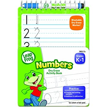 Amazon.com: LeapFrog Numbers Dry Erase Activity Book for