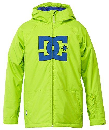 DC Apparel Big Boys' Story Snow Jacket, Lime Green, 12