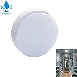 DLLT LED Flush Mount Bathroom Ceiling Light Fixture-18W Flat Round Surface Mounted Downlight Lamp Lighting for Kids Room/Closet/Bedroom/Dining Room Soft Daylight(160 watt Equivalent)