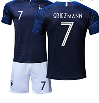 3b9d16a9709 LISIMKE France Soccer Team Griezmann Kid Youth Replica Jersey Kit   Jersey    Shorts   Socks