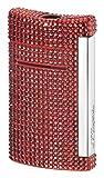 full red swarovski mini jet lighter - S.T. Dupont