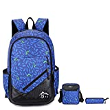 Backpack - Bageek Travel BackpacK Men Daypack College Bookbag Women Rucksack with Crossbody Bag ,Pencil Case 3PCS Set