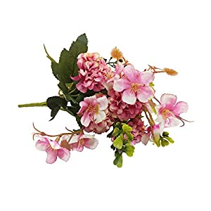 Evoio 2PCS Artificial Silk Daisy Flowers, Bouquet for Wedding Floral Arrangements and Home Decoration, Multiple colors to choose from (Pink) 2