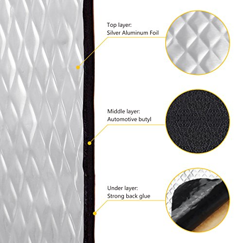 Low Cost Partsam Grey 80 Mil 36 Sqft Car Sound Deadening Mat