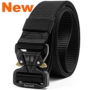 Fairwin Tactical Belt, 1.5 Inch Wide Heavy Duty Military Style Tactical Belts for Men