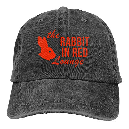 70s Funny Halloween The Rabbit in Red Lounge Low Profile Vintage Washed Pigment Dyed 100% Cotton Adjustable Baseball Cap