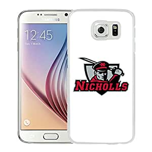 NCAA Nicholls State Colonels 07 White Hard Shell Phone Case For Samsung Galaxy S6