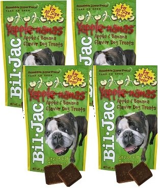 Bil-Jac Yapple-Nanas Dog Treats 4 oz, 4 Pack