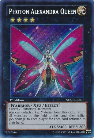 Yu-Gi-Oh! - Photon Alexandra Queen (NUMH-EN047) - Number Hunters - 1st Edition - Secret Rare