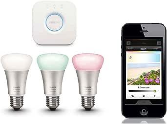 Philips Hue 3pk Wireless Lighting Starter Kit E27 Bridge LED Light Lightbulb App
