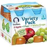 Gerber Juice Fruit Variety (Pack of 4)