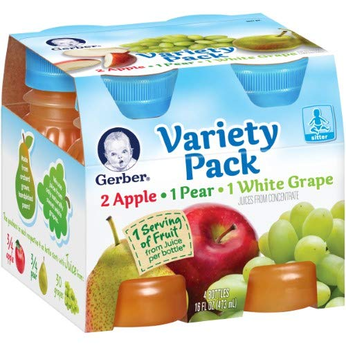 Gerber Juice Fruit Variety (Pack of 8)