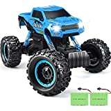 RC Cars, DOUBLE E Newest 1: 12 Scale Remote Control Car with Two Rechargeable Batteries & Dual Motors Off Road RC Trucks, High Speed Racing Car for Kids, Blue