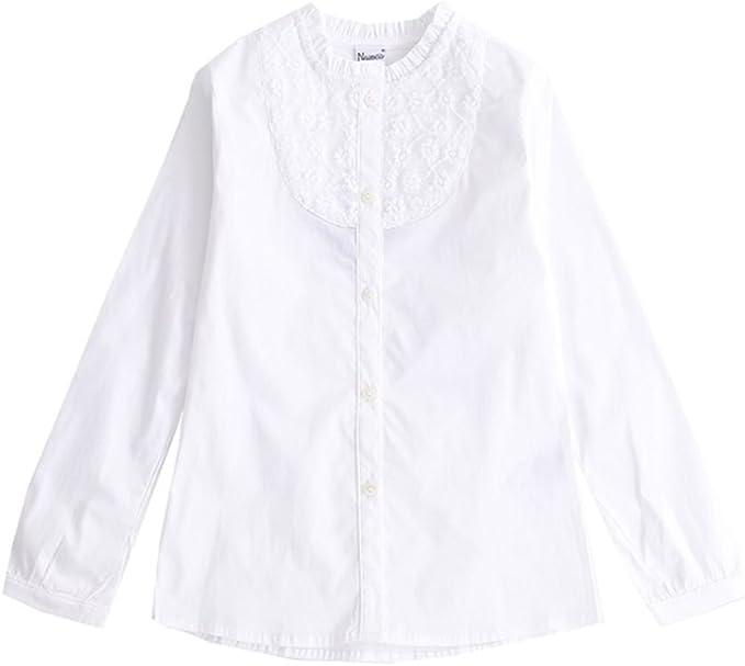 NEWNESS Camisa Niña Nesness 2-7 Años Blanca: Amazon.es: Ropa y accesorios