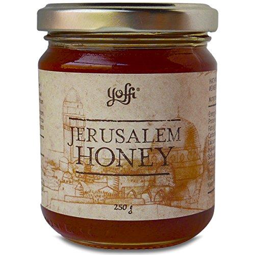 Yoffi Jerusalem Honey from the Holy Land| Natural Wildflower Honey| 100% Unfiltered Pure Honey Jar | Kosher Pareve | 8.8 Oz Wild Turkey Turkey Honey