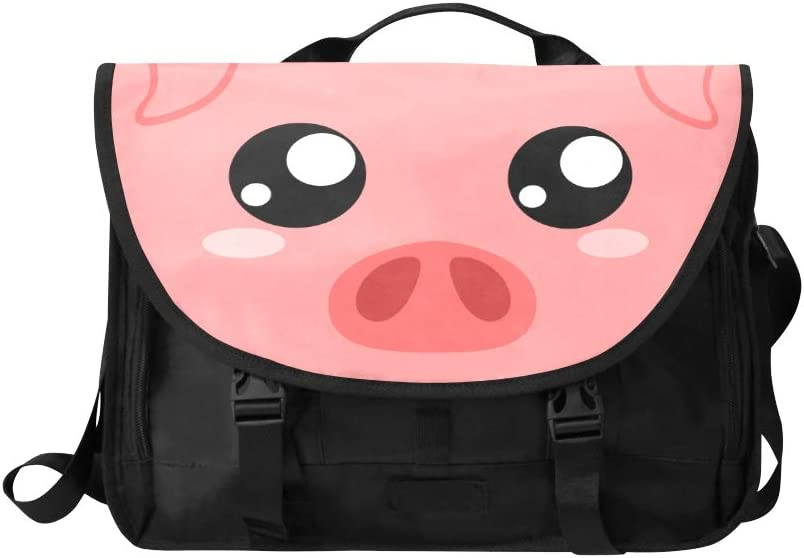 Fashion Crossbody Bag Cartoon Funny Pink Pig Nose Multi-Functional Modern Woman Bags Fit for 15 Inch Computer Notebook MacBook