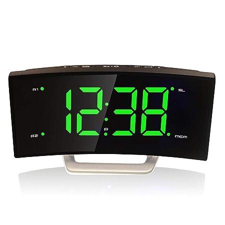 DZXYW Reloj Despertador Radio Led ARC Alarm Clock Personalidad ...