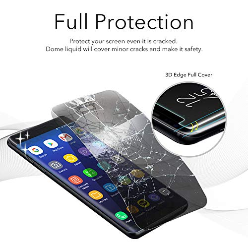 Dome Glass Galaxy Note 9 Screen Protector Tempered Glass, Full 3D Curved Edge Screen Shield [Liquid Dispersion Tech] Easy Install Kit by Whitestone for Samsung Galaxy Note 9 (2018) - 2 Pack