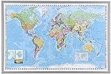 Naga 16200Framed World Map