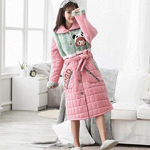 da GAOLILI da cotone Abbigliamento Multicolore Accappatoi Plus puro Inverno casa in caldo Camicia femminile Ispessimento Accappatoio notte Autunno Stagione r5C0qrxwT