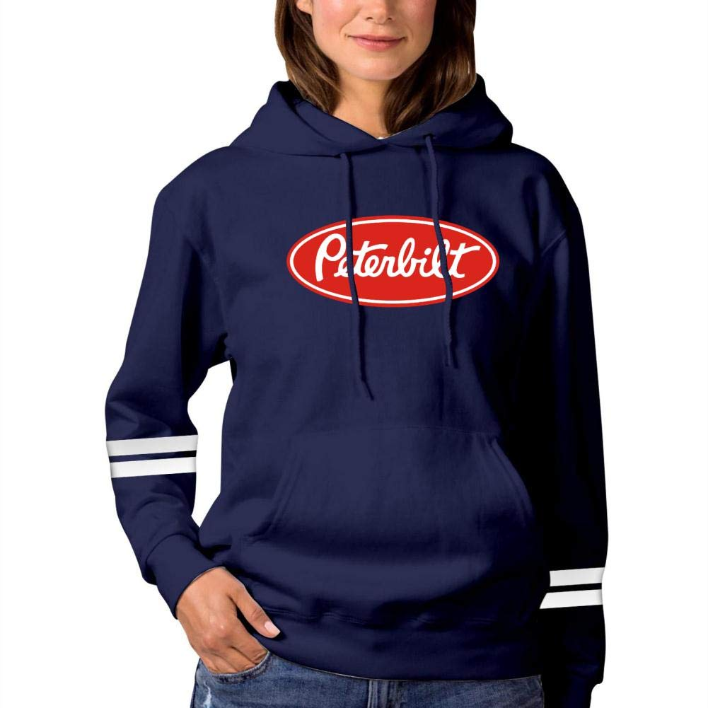 Vchat Womens Peterbilt Pullover Hoodies Long Sleeve Hooded Sweatshirt