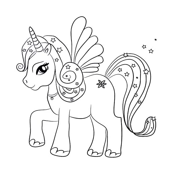 GirlZone: Arts and Crafts Unicorn Coloring Books for Girls of Ages 4 to 10 Years 10