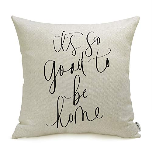 Meekio Farmhouse Pillow Covers With It S So Good To Be Home Quotes 18 X 18 Inch Farmhouse Decor Housewarming Gifts For The Home