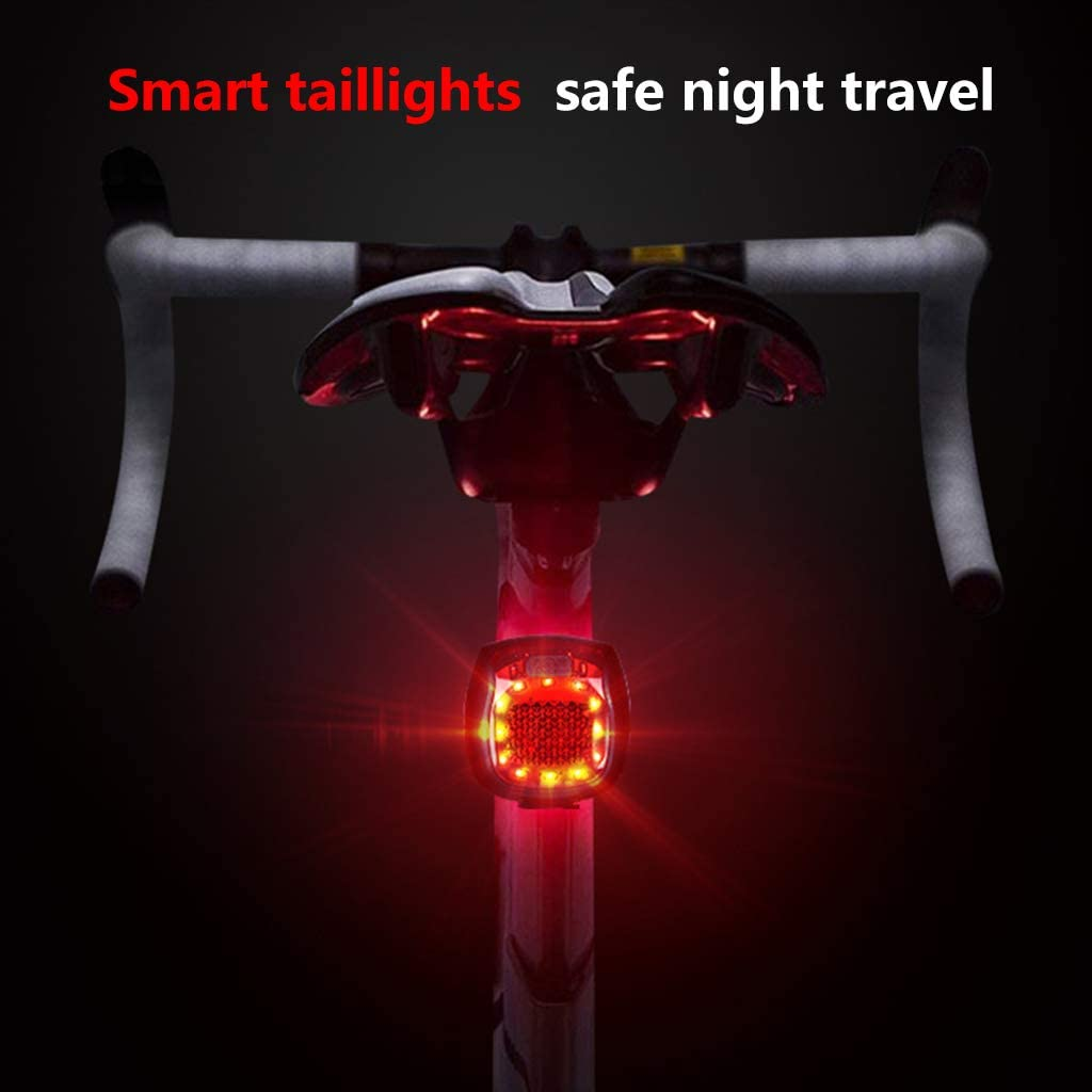 User Bicycle Rear Lights Waterproof Smart USB Charging Night Riding Taillight Safety Warning Lamp