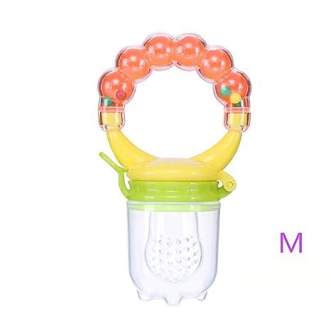 TINERS bebé Silicona Chupete bebé Fruta y verdura sonajero ...
