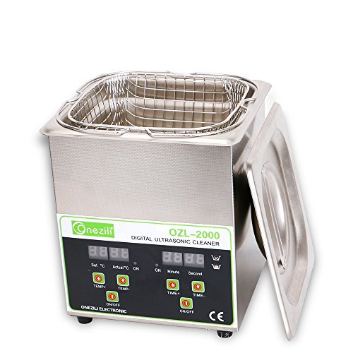 Commercial Ultrasonic Cleaner 2L Heated Ultrasonic Cleaner with Digital Timer Jewelry Watch Glasses Cleaner Large Capacity Cleaner Solution by ONEZILI (Image #2)