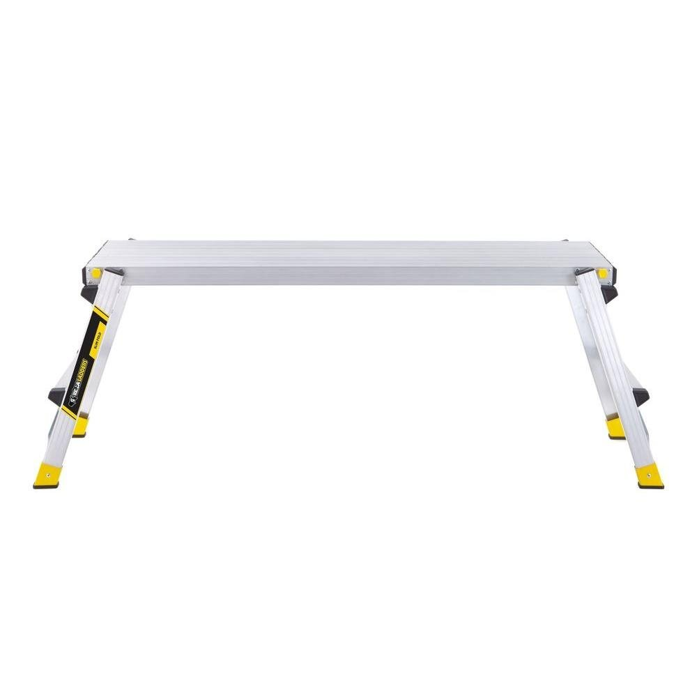 47.25'' x 12'' x 20'' Aluminum Slim-Fold Work Platform with 250 lb. Load Capacity by Gorilla Ladders (Image #2)