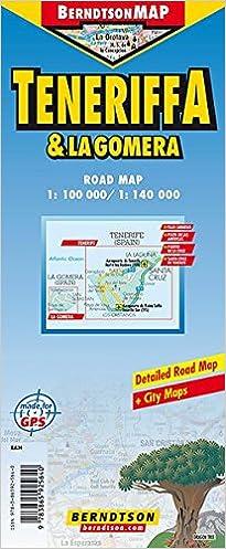 Map of Tenerife and La Gomera Berndtson Maps 9783865925640 Amazon