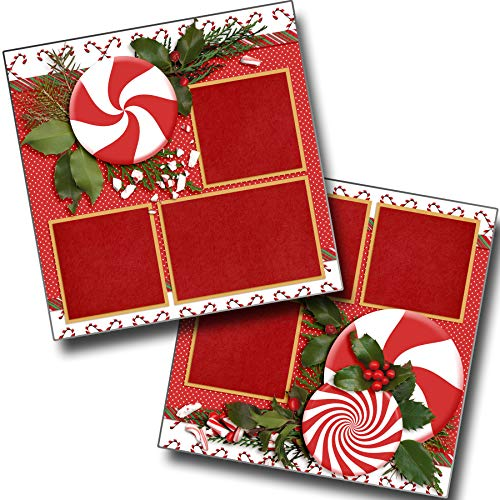 (Peppermint Holiday - Premade Scrapbook Pages - EZ Layout 3578)