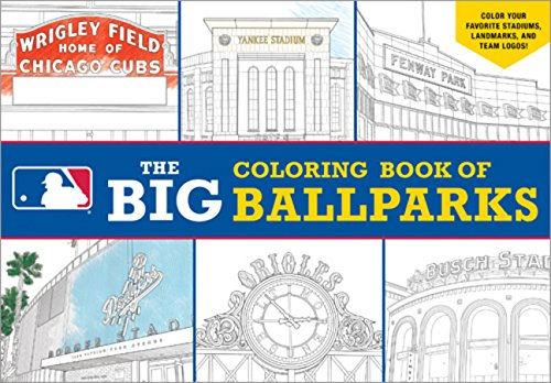 Major League Baseball: The Big Coloring Book of Ballparks (Hawk's Nest Activity Books) by Sourcebooks Jabberwocky (Image #2)